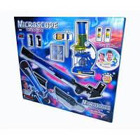 Топ товар! Детский набор 2в1 микроскоп и телескоп Limo Toy CQ 031
