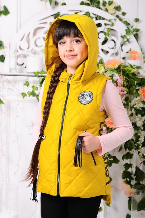78f3d46d33e4 Детская демисезонная жилетка для девочки подростка, горчица, р.116, цена  560 грн., купить в Одессе — Prom.ua (ID#579304647)