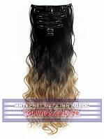 Накладные волосы на клипсах - трессы Rebecca (Термоволосы): цвет 2T27