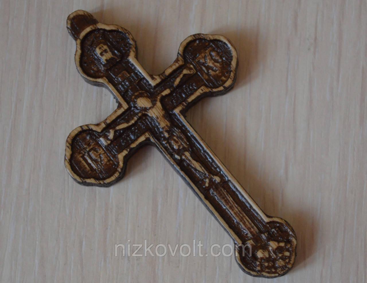 """Религиозные товары """"Крестик нательный резной из дерева"""""""