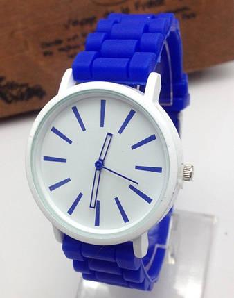 Часы Женева Кварц с силиконовым ремешком Синие, фото 2