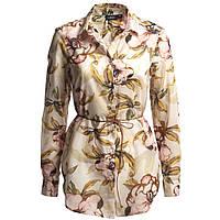 Блуза бежевая с цветами LINDEX, Размер: 38 (M)