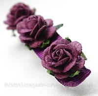 Заколка с розочками фиолетовая для волос L & P