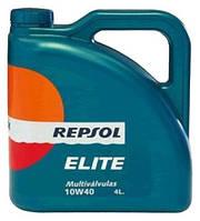 Моторное масло REPSOL ELITE MULTIVALVULAS 10W40 (4л) синтетика для автомобилей Renault , Volkswagen , Mercedes