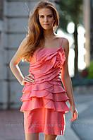 Платье вечернее с воланами ELLOS, Размер: 34 (XS)