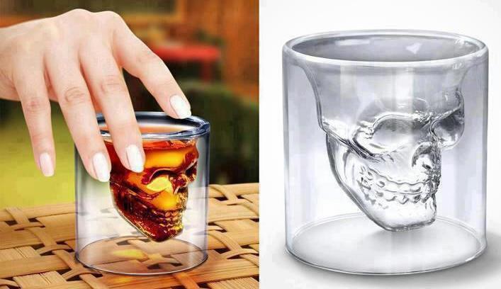 Оригинальный стакан в виде черепа 75 мл