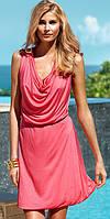 Платье розовое трикотажное H&M