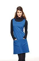 Платье синее без рукавов HALENS