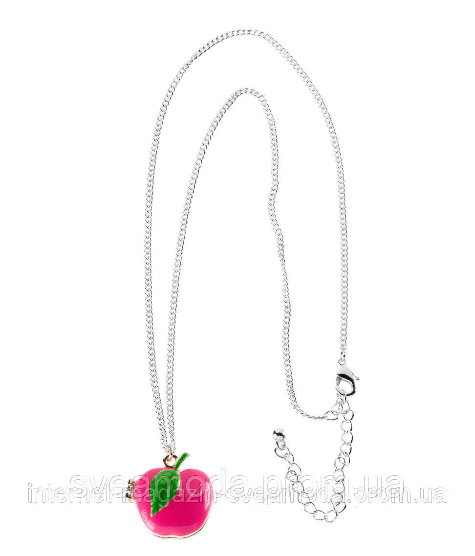 """Ожерелье с кулоном яблоком H&M, длина 60 см - Интернет-магазин """"Sveamoda"""" в Киеве"""