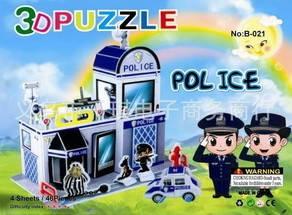 Набор для творчества 3D пазл - Полиция, фото 2