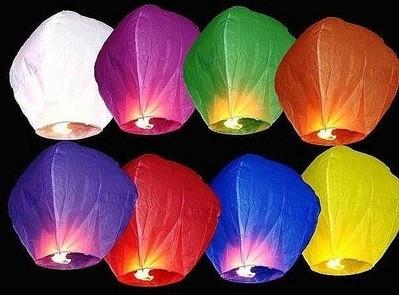 Небесний ліхтарик - купол (небесні ліхтарики бажань)