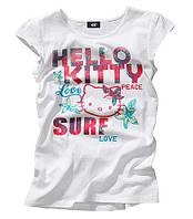 Футболка Hello Kitty H&M, Размеры: xs (на рост 158 см), s (170 см)