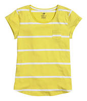 Футболка ярко-желтая женская H&M