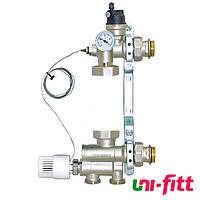 Насосно-смесительный узел для систем теплых полов 130мм UNI-FITT SOLOMIX 1' без насоса 470N1200
