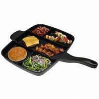 Непригораемая универсальная сковорода на 5 отделениями Magic Pan