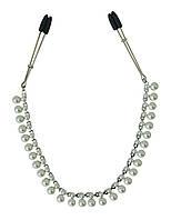Зажимы для сосков с цепочкой Sportsheets Midnight Pearl Chain Nipple Clips украсят Вашу грудь