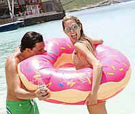 Надувний круг Modarina Пончик 120 см Рожевий (PF3370)