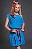 Платье женское модель №436-1, размеры44-46 голубое