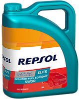 Моторное масло REPSOL ELITE EVOLUTION FUEL ECONOMY 5W30 (5л) для Peugeot / Citroen с допуском PSA B71 2290