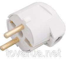 Вилка штепсельная с заземляющим контактом и боковым подводом провода