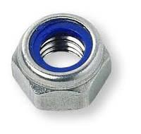 Гайка со стопорным  кольцом (нейлон), шестигранная, с метрической или дюймовой резьбой, DIN 982