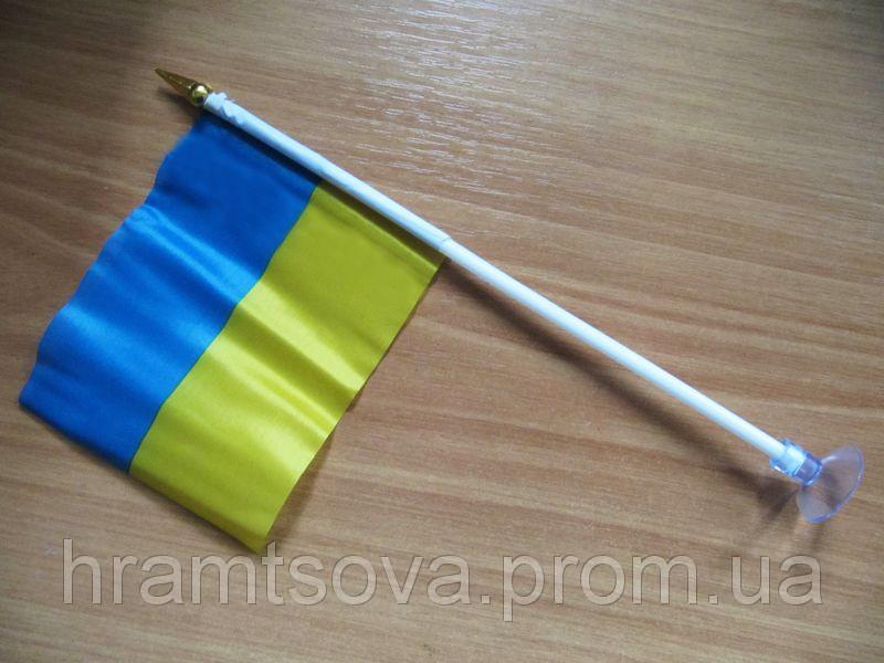 Флажок Украины на присоске 20 х 15 см.