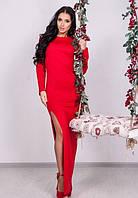 Платье красное длинное