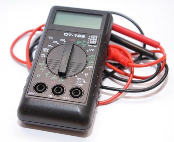 Миниатюрный тестер dt-182 (мини-аналог dt-832), цифровой мультиметр, тест батарей, диодов, транзисторов, 12в