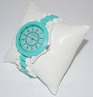 Женские наручные силиконовые часы geneva, женева, женские часики, модные часы женские 2018 (реплика)