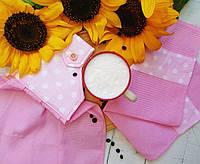 """Набор кухонных полотенец """" Розовый  + Розовый горох """""""
