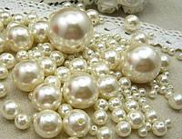 Намистини: кришталь, склокераміка, перли, полубусины