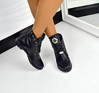 Демисезонные  ботиночки PP натуральная кожа, внутри байка