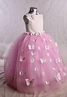 Детское нарядное платье для девочек с бабочками