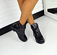 Демисезонные  ботиночки в стиле HeRmes натуральная кожа, внутри байка