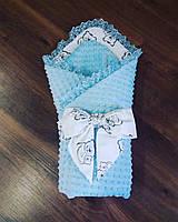 Конверт-плед для новорожденных 90×90 (демисезонный)