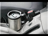 Термокружка 450мл 12V CUP 2240 подогрев от прикуривателя, нержавеющая сталь
