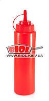 Диспенсер 700мл для соусов пластиковый красного цвета Empire EM-7080, фото 1