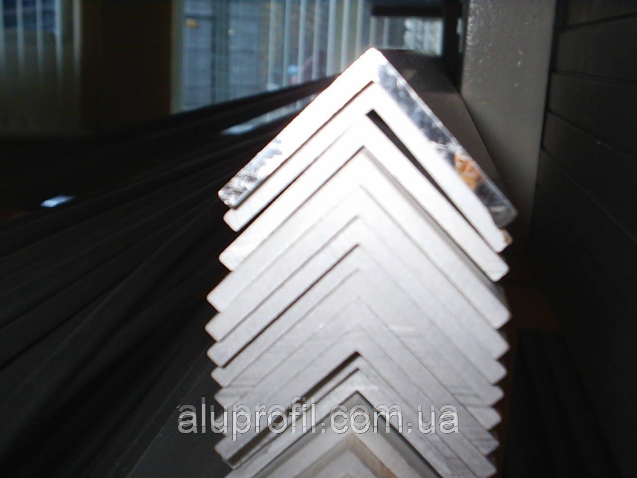 Алюминиевый профиль — уголок алюминиевый 50х50х3 Б/П