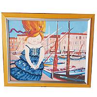 Картина без стекла: Я держу ветер в своих ладонях, вышитая бисером