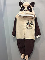 Махровый комбинезон панда