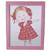 Картина без стекла: Сплетница, вышитая бисером