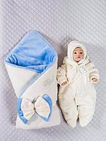 """Зимний набор """"Мишка с бантиком"""", молочный, 3 предмета, фото 1"""
