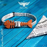 Галстук-бабочка рыба-газета