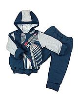 Комплект из джинса на синтепоне