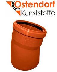 Отвод для наружной канализации Ostendorf KG ПВХ Ø 110х15º