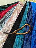 Велюровый костюм кофта бомпер + штаны велюр муар темно-синий, фото 8