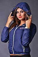 """Стильная женская короткая куртка-ветровка на тонком синтепоне """"Reebok"""" в расцветках"""