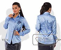 Блуза классическая прямая из шёлка Армани раз. 42,44,46