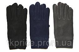 Мужские флисовые перчатки одинарные длина 23 см, фото 2