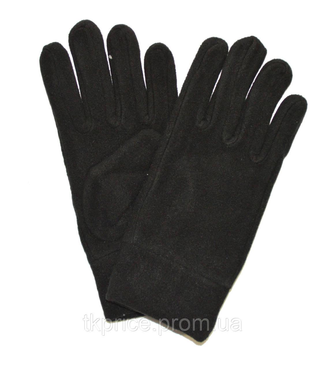Мужские флисовые перчатки одинарные длина 23 см